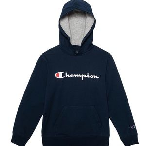 Champion Hoodie Unisex Solid Navy French Terry NEW